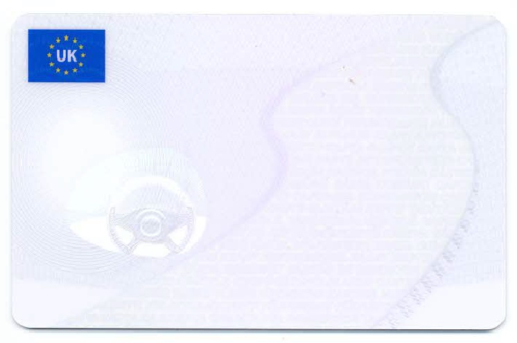 UK Driver Card (front)